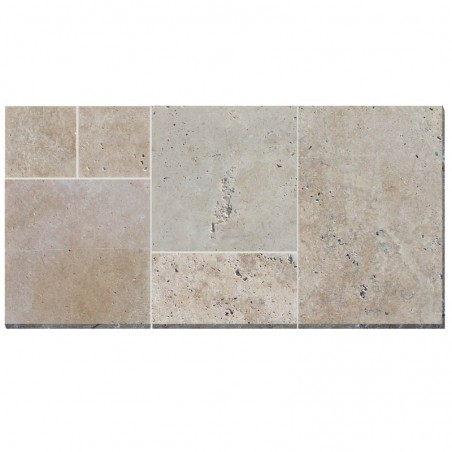 Travertin Beige vieilli Opus MIX 1 Dallage